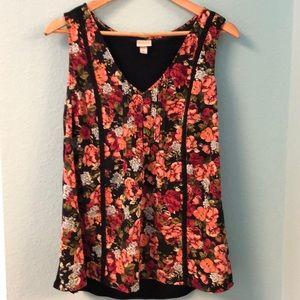 Merona sleeveless floral top